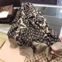 One-nice™ Perfect Louis Vuitton Woman Cashmere Scarf Shawl Silk Scarf