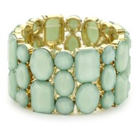 RAIN Mint Stretch Stone Bracelet - designer shoes, handbags, jewelry, watches, and fashion accessories | endless.com