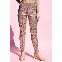 Stand Out Metallic Cheetah Deadstock Pants