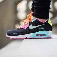 Nike Air Max WMNS 90 GS Fruit Loops Black Pink Running Shoes Sport Shoes 345017 063