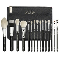 ZOEVA EYES AND FACE MAKE UP 15 PCS BRUSHES  COMPLETE SET