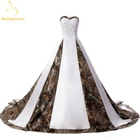 Wedding Dresses With Appliques Ball Gown Long Camouflage