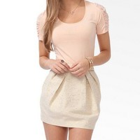 Ruched Lace Sleeve Top