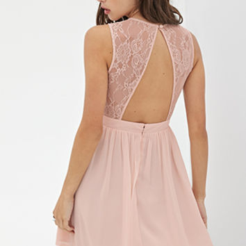 FOREVER 21 Surplice Lace Dress