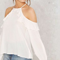 Andrea Cold Shoulder Top