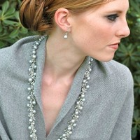 Moonlight Silver Topaz Cluster Necklace