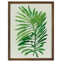"Framed Watercolor Palm Leaf (16""x20"") - Threshold™"