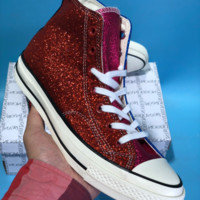 DCCK Vince Staples X Chuck 1970 Converse All Star Skate Shoes Blue Red