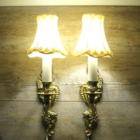 Vintage Wall Sconce, Vintage Wall Lamp, Wall Lighting Brass, Lampshades, Electric Wall Sconce, Vintage Wall Lights,  Homedecor, Wall Lamp