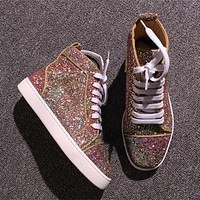 Christian Louboutin CL Style #2286 Sneakers Fashion Shoes Best Deal Online