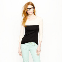 Perfect-fit colorblock tee - perfect-fit tees - Women's knits & tees - J.Crew