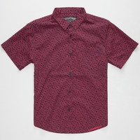 Straight Faded Petals Boys Shirt Red  In Sizes