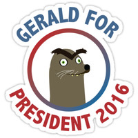 Gerald for President by millerstrations
