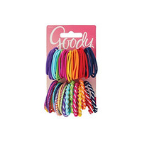 Goody Girls Ouchless Elastic Hair Ties, No-metal, 60 count, Assorted Colors
