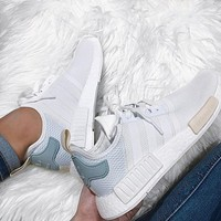 """""""Adidas"""" NMD  Fashion Casual Sports Shoes white Mint green"""