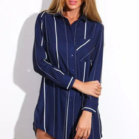 Cupshe Striped Longline Shirt