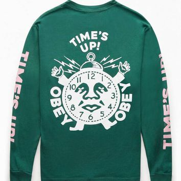 OBEY Time's Up Long Sleeve T-Shirt | PacSun