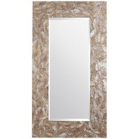 Crackled Mother-of-Pearl Floor Mirror
