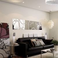 Large Acrylic Mirror  Wall Stickers
