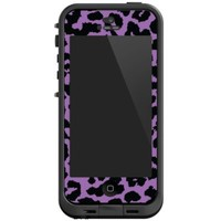 Purple Leopard Skin for Lifeproof Case: Cell Phones & Accessories