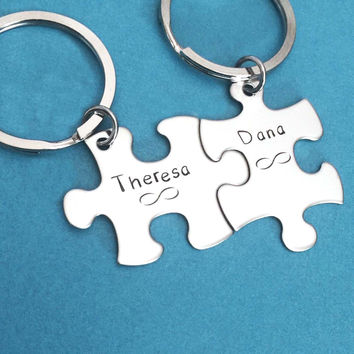 Infinity Keychains, Personalized Name, Couples Gift, Couples Keychains , Anniversary Gift