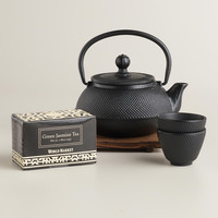 Black Cast Iron Teapot Set - World Market