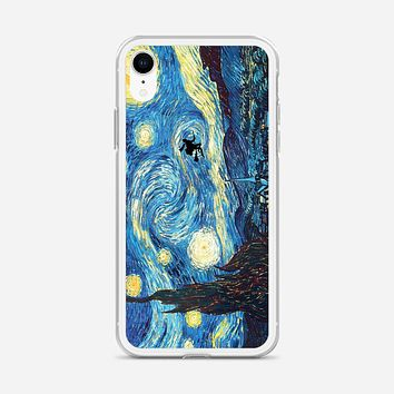 Van Gogh Harry Potter Paintings Starry Night iPhone XR Case