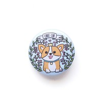Corgi Club Button