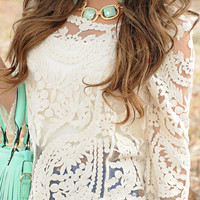 The Lace Is On Top: Ivory | Hope's