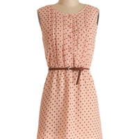 ModCloth Mid-length Sleeveless A-line Chocolate Chip Smoothies Dress