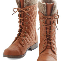 ModCloth Rustic Quilt on Dreams Boot