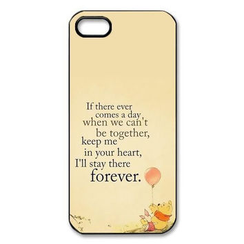 Winnie Pooh lovely pattern hard plastic case for iphone 4 4s 5 5s 5c 6 6s 6 plus 6s plus TQI