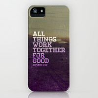 ALL THINGS FOR GOD iPhone & iPod Case by Pocket Fuel
