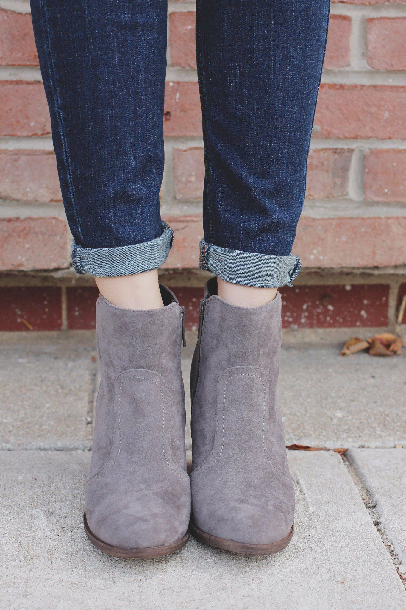 Image of Finishing Touches Bootie - Grey