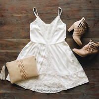 A Lace Dreams Sundress in Ivory