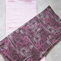 Zoo Animals Burp Cloths - Two double-sided flannel burp cloths - Pink Zoo Animals Front, Light Pink Back