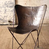 Black Iron Butterfly Chair