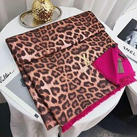 LV Louis Vuitton Autumn Winter Women Leopard Grain Cashmere Cape Scarf Scarves Shawl Accessories