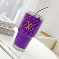LV Louis Vuitton Trend Letter Printing Water Cup Out Water Bottle