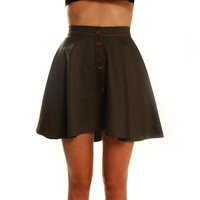 Riddle Me This Khaki Skirt - green | Skirts by Riddle Me This at Thanks | Shop Riddle Me This Online