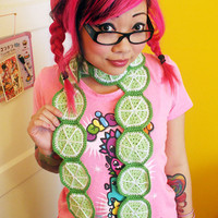 Slice o' Lime Scarf Made to Order by TwinkieChan on Etsy