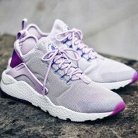 Nike Wmns Air Huarache Run Ultra Sports shoes Grey purple