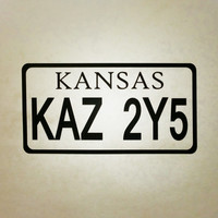 Supernatural Inspired 67 Chevy Impala Kansas License Plate KAZ 2Y5 Precision Die Cut Vinyl Car Window Decal Sticker for fans of the TV show