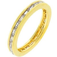 Chela Baguette Eternity Stackable Gold Ring | 2ct | 18k Gold