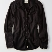 AEO Button-Down Prep Shirt, True Black