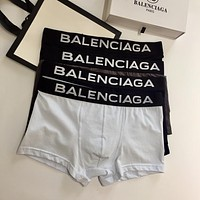 Balenciaga Fashion 4 Pairs of Men's Underwear Style #672