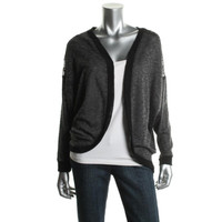Material Girl Womens Juniors Heathered Lace Back Cardigan Top