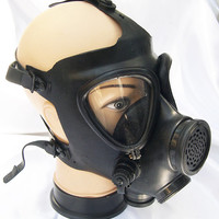 Basic Black Rubber Genuine Israeli Military Steampunk Full Face Gas Mask-A BURNING MAN - OCCUPY Must Have
