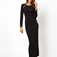 ASOS Embellished Back and Cuff Maxi Dress