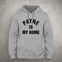 Payne is my home - For fangirl & fanboy - Gray/White Unisex Hoodie - HOODIE-078
